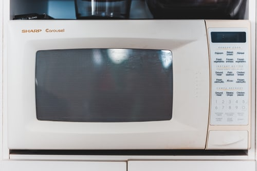 a white microwave