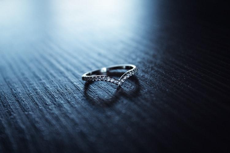A platinum ring