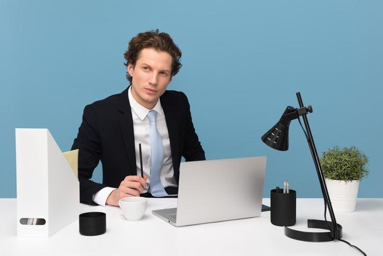 boss at his desk