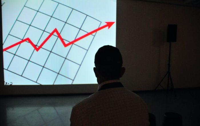 chart shpwing sudden business growth