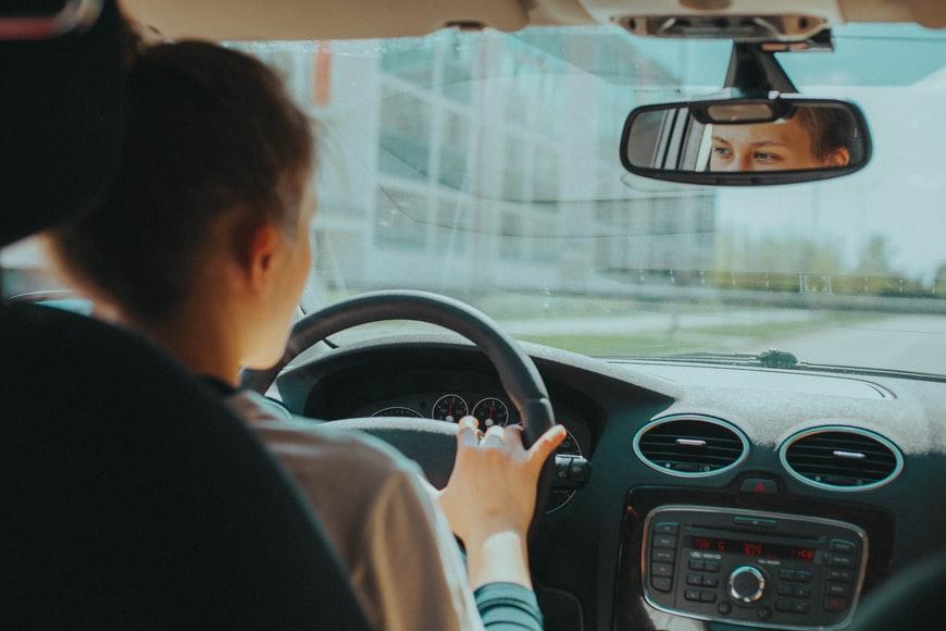 person driving alone